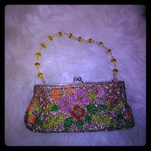 Beaded Small Clutch Purse Vintage Flapper